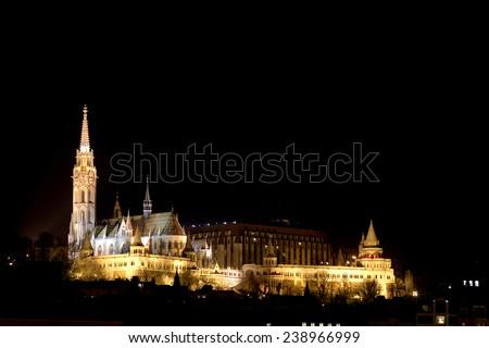 Matthias Church and the Fishermen's Bastiona, Budapest, Hungary - stock photo