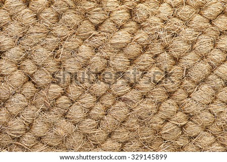 Mattress for a child made of coconut fiber. Background of coconut fiber - stock photo