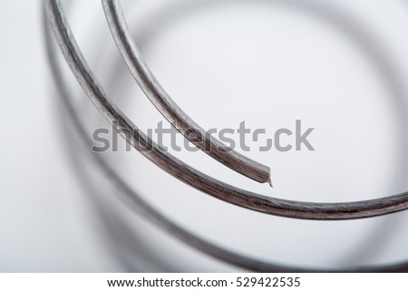Mattress spring close up