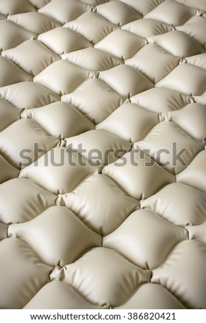 Mattress that prevents bedsores consists of numerous air cells - stock photo