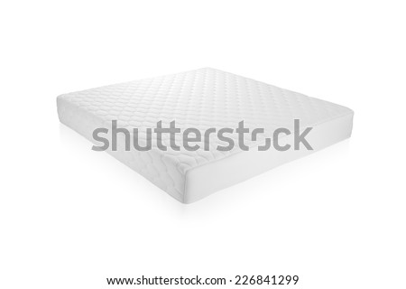 Mattress that supported you to sleep well all night isolated on white background - stock photo