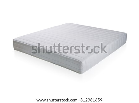Mattress to supported back, the image isolated on white background