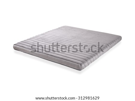 Mattress to supported your back, the image isolated on white background - stock photo