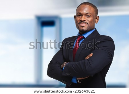 Mature african businessman in a modern office - stock photo