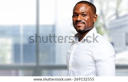 Mature african businessman in a modern office