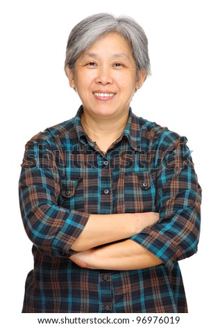 mature asian woman - stock photo