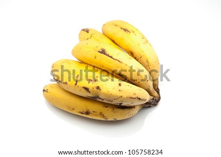 mature bananas of the Canary islands