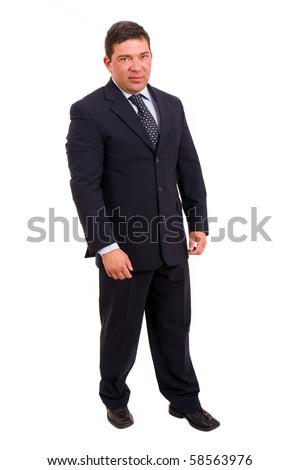 mature business man full body isolated on white background