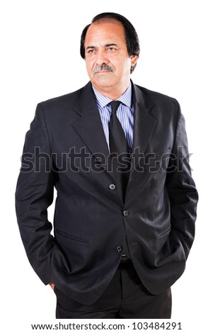 mature businessman isolated on white
