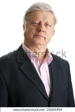 mature businessman over white background - stock photo