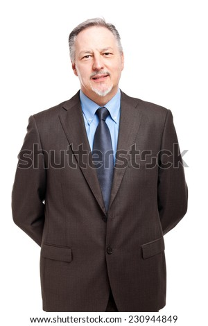 Mature businessman portrait in the office