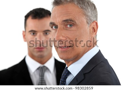 mature businessman posing - stock photo