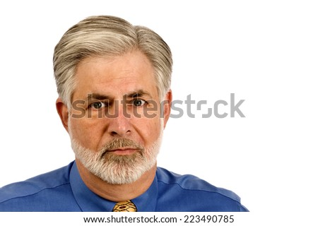 Mature Businessman With Copy Space