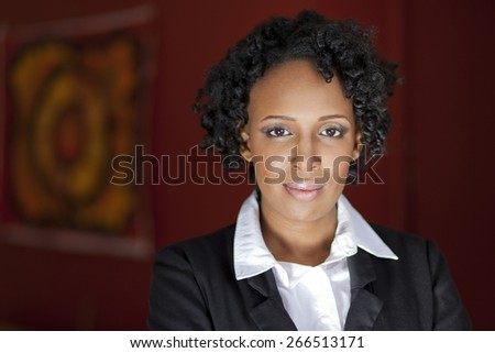 Mature Businesswoman Looking At The Camera - stock photo