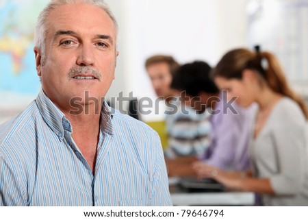 Mature college professor - stock photo