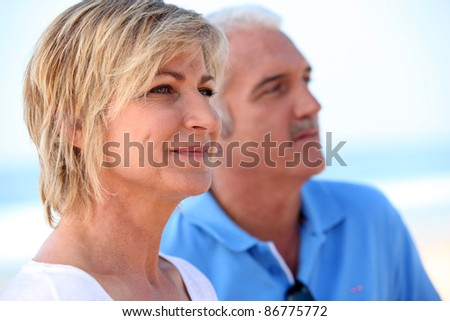 Mature couple - stock photo