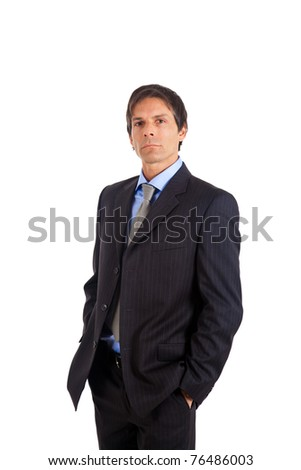 Mature manager isolated on white - stock photo