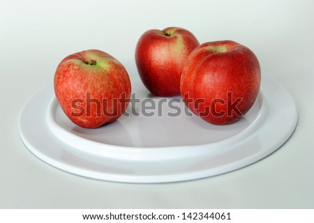 Mature nectarine on white background