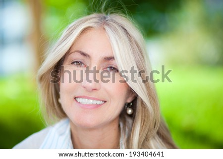 Mature woman portrait  - stock photo
