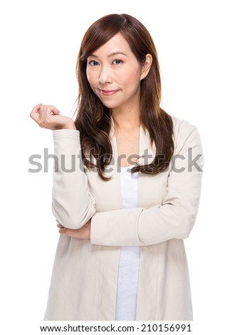 Mature woman portrait - stock photo