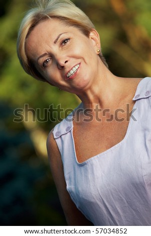 Mature woman - portrait. - stock photo