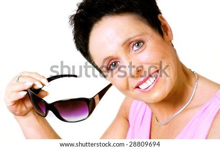 Mature woman with sunglasses
