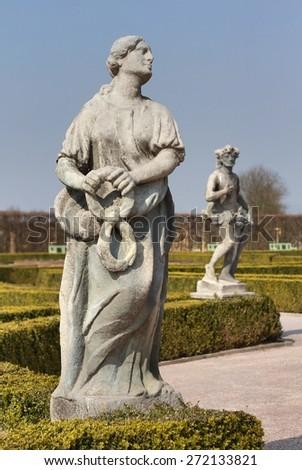 Matyas Braun sculptures - stock photo
