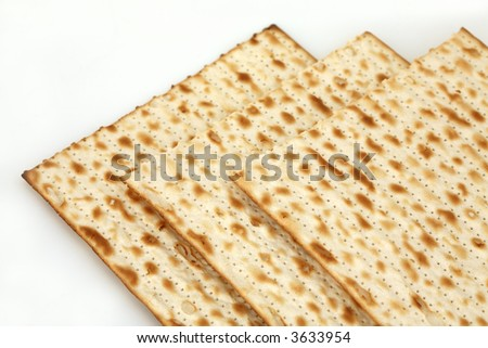 Matza isolated - stock photo