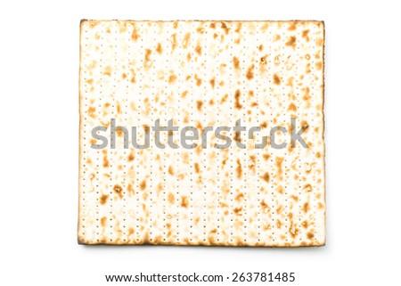 Matzah for passover - stock photo