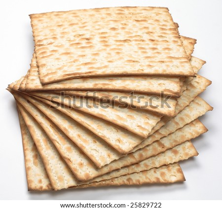 Matzo, isolated - stock photo