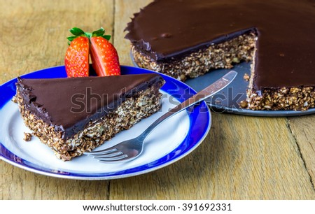 Matzoh cake for Jewish holiday Pesach celebration. Selective focus. - stock photo