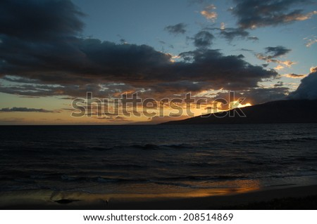 Maui Sunset - stock photo