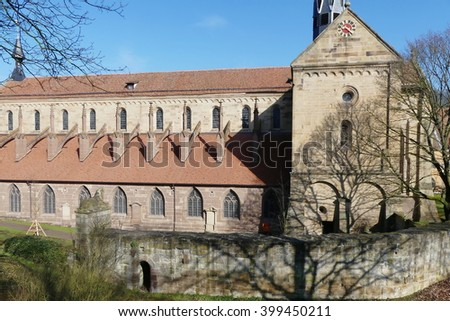 Maulbronn monastery complex,Germany UNESCO site - stock photo