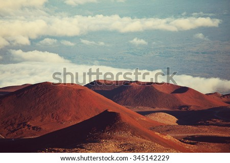 Mauna Kea in Hawaii - stock photo