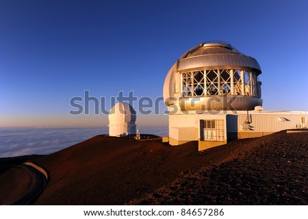 Mauna Kea Observatory, Big Island, Hawaii - stock photo