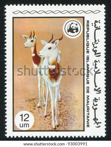 MAURITANIA - CIRCA 1978: stamp printed by Mauritania, shows Gazelles, circa 1978