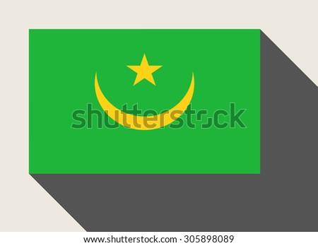 Mauritania in flat web design style. - stock photo