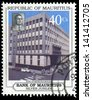 MAURITIUS - CIRCA 1960: A stamp printed in Mauritius Bank of Mauritius silver jubilee, circa 1960 - stock photo