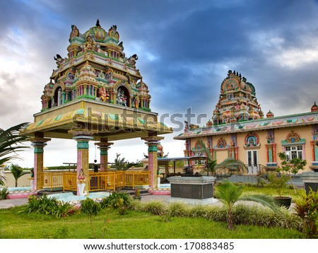 Mauritius. Hindu temple. - stock photo