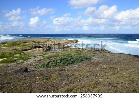 Mauritius, the picturesque lighthouse island in Mahebourg aera - stock photo