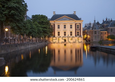 Mauritshuis Museum near Binnenhof Palace in Hague, Netherlands