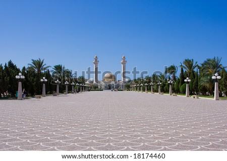 Mausoleum in Monastir (Tunesia) - stock photo