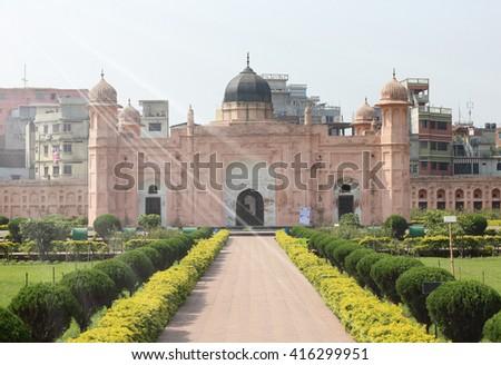 Mausoleum of Bibipari in Lalbagh fort, Dhaka, Bangladesh - Sun Ray Effect - stock photo