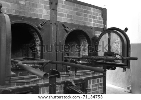 Mauthausen, death camp, detail from cremathorium - stock photo