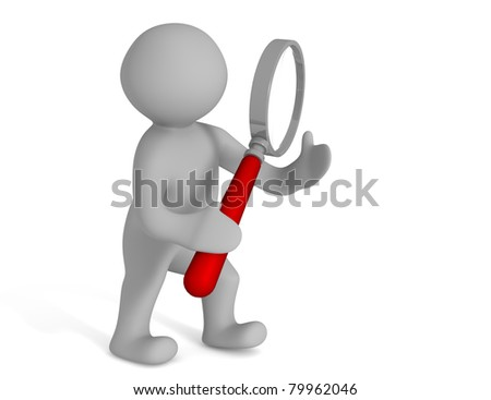 Max holds a magnifying glass in hand