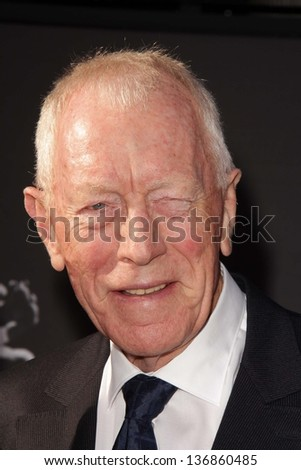 Max von Sydow at the TCM Classic Film Festival Opening Night Red Carpet Funny Girl, Chinese Theater, Hollywood, CA 04-25-13