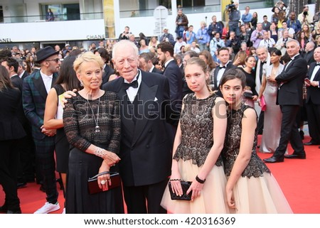 Max von Sydow attends he screening of 'The BFG' at the annual 69th Cannes Film Festival at Palais des Festivals on May 14, 2016 in Cannes, France. - stock photo