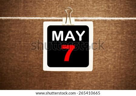 May 7 Calendar. Part of a set - stock photo