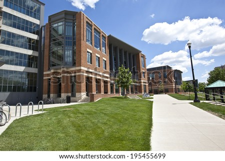 MAY 24, 2014 - COLUMBUS, OHIO:  The renovated student Union at Ohio State University opened in 2010. - stock photo