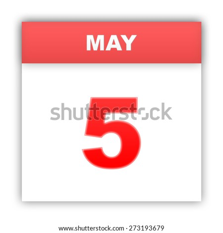 May 5. Day on the calendar. 3d - stock photo